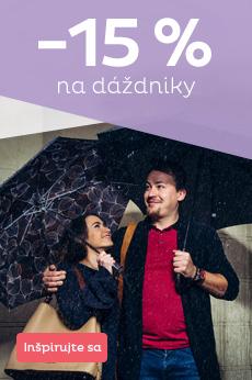 Dážď vás nezaskočí - 15 % na dáždniky