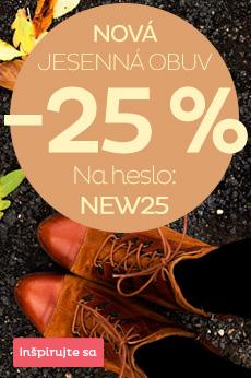 Nová jesenná obuv -25 %