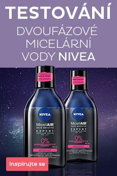 TESTOVÁNÍ Dvoufázové micelární vody od Nivea