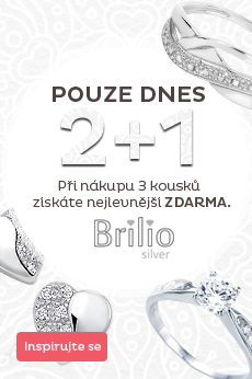 Akce Brillio Silver 2 + 1 zdarma