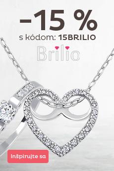 Zľava 15 % na šperky Brilio