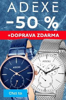 Hodinky Adexe se slevou 50 %