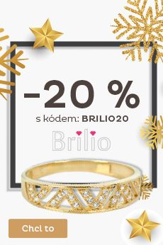 Sleva 20 % na zlaté šperky Brilio