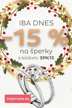 Šperky skladom -15 %