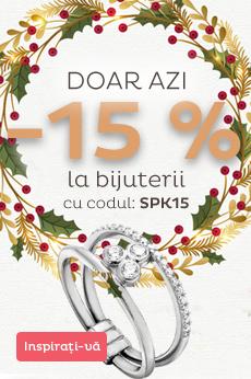 Reduceți cu 15% toate bijuteriile din stoc