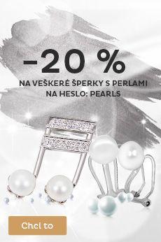 Sleva 20 % na šperky z pravých perel