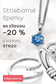 Zľava 20% na strieborné šperky skladom
