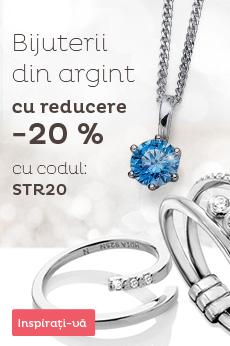 -20 % pe bijuterii de argint în stoc