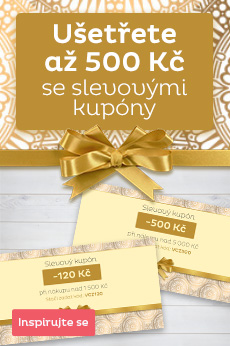 Slevové kupóny - ušetřete až 500 Kč