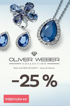 Zľava 25% na šperky Oliver Weber