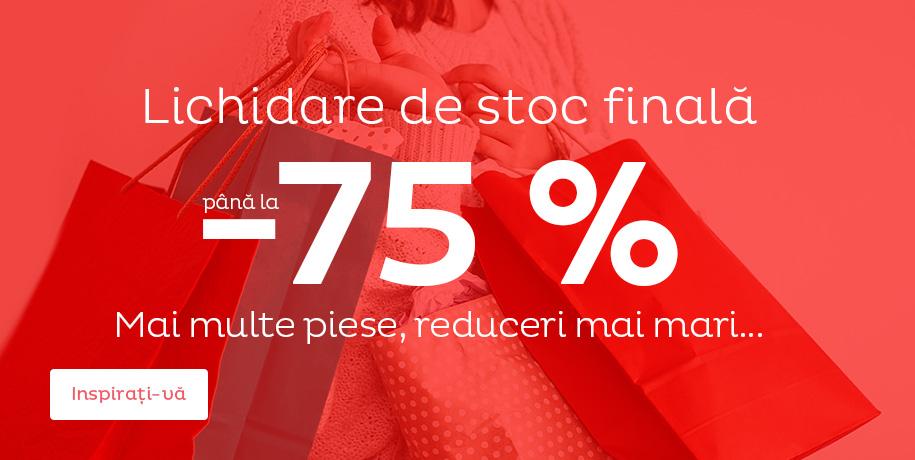 Lichidare de stoc până la -75 %