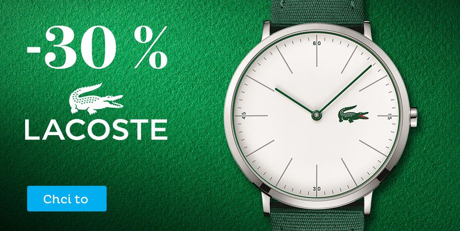 Sleva 30 % na hodinky Lacoste