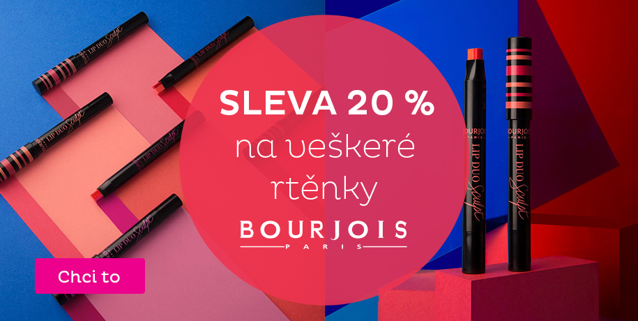 - 20 % na rtěnky Bourjois