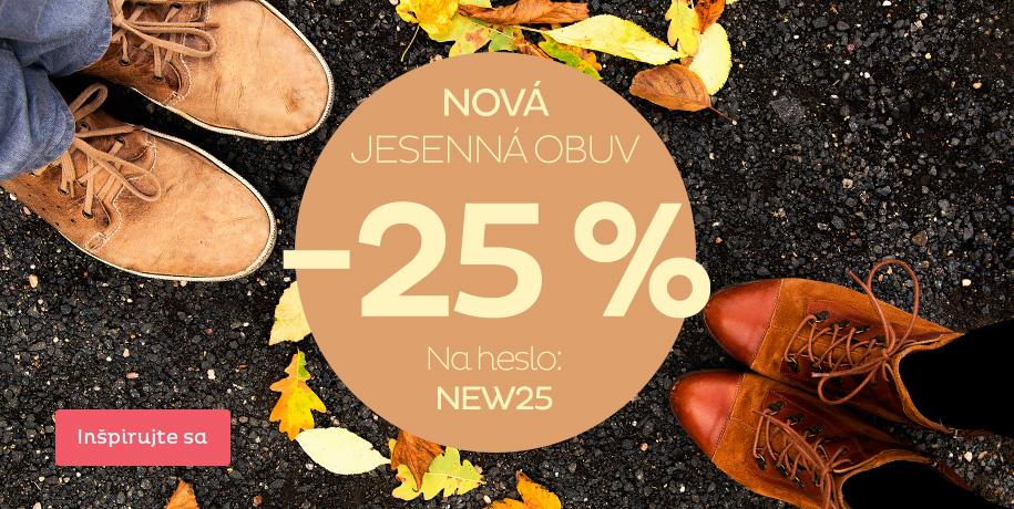 -25 % Nová jesenná obuv