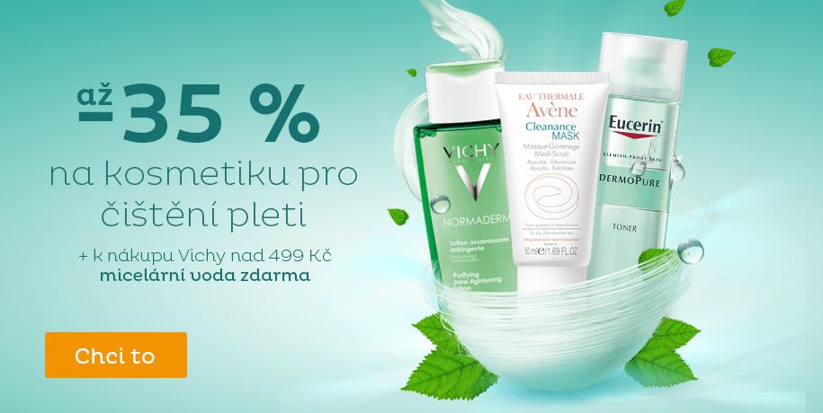 až -35 % kosmetika na čištění pleti