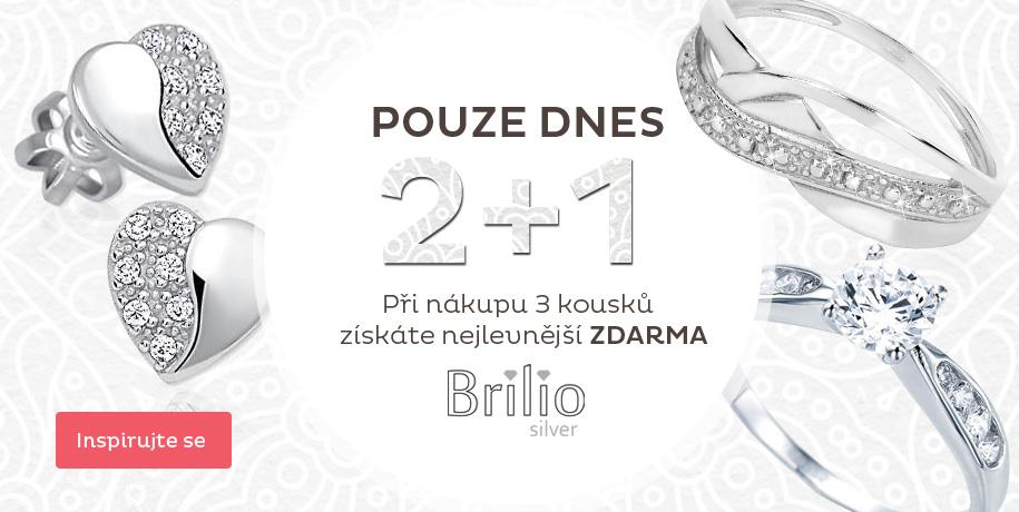 Akce Brilio silver 2 + 1 zdarma