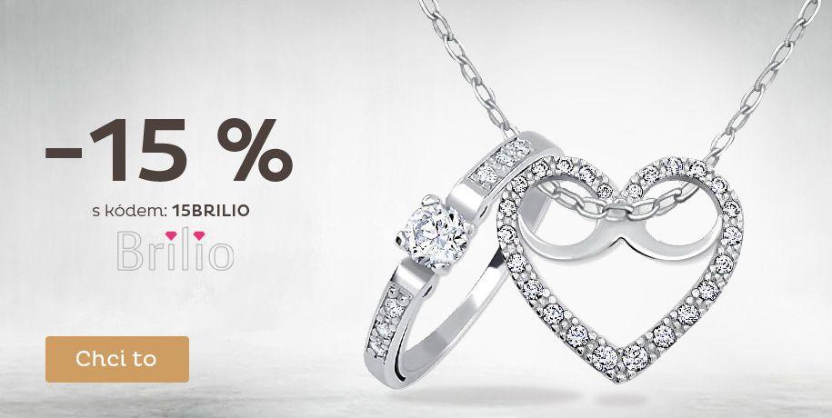 Sleva 15 % na zlaté šperky Brilio
