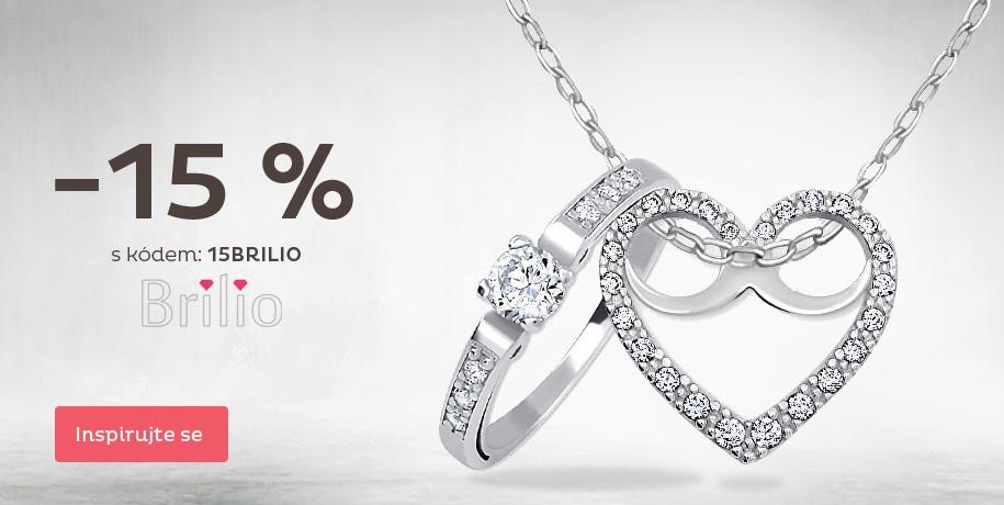 Sleva 15 % na šperky Brilio