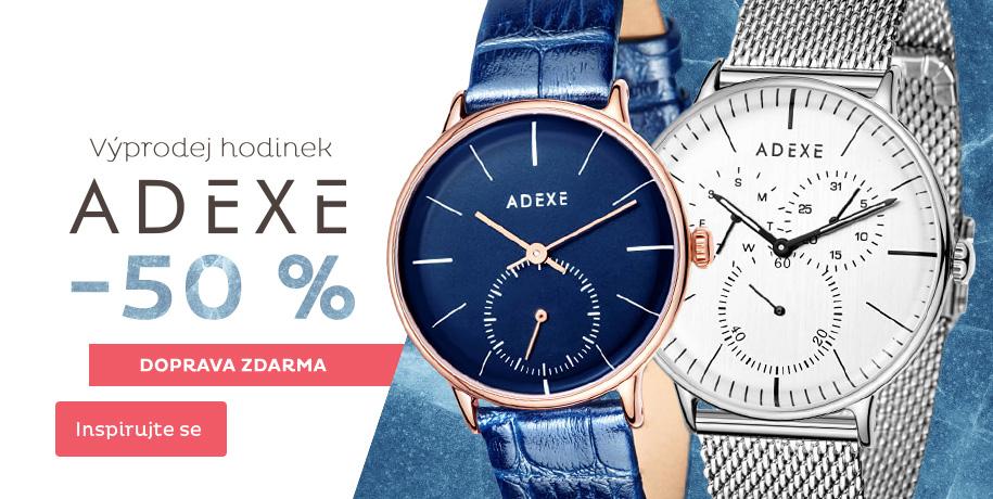 Slevy až 50 % na hodinky Adexe