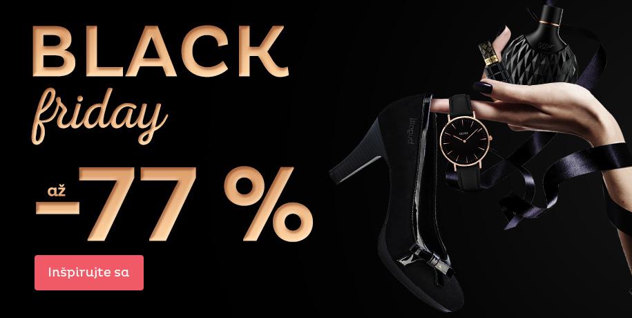 Black Friday - zľavy až 77 %