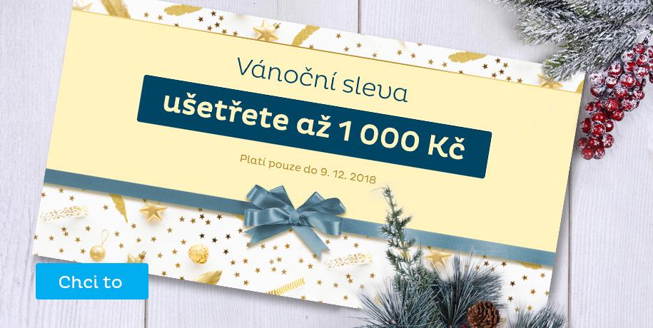 Vánoční kupóny - Sleva až 1000 Kč