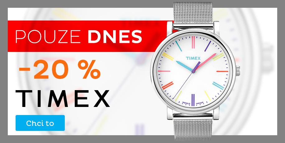 Timex - sleva 20 % na vše