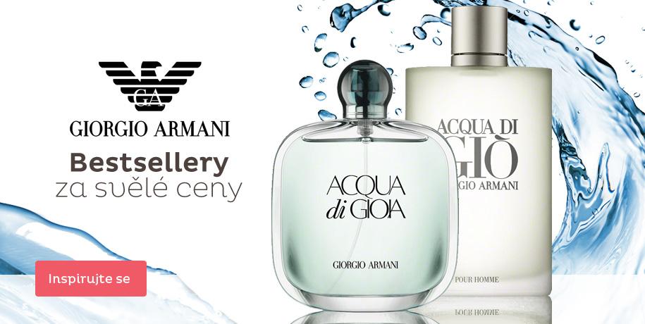Armani - parfémové bestsellery