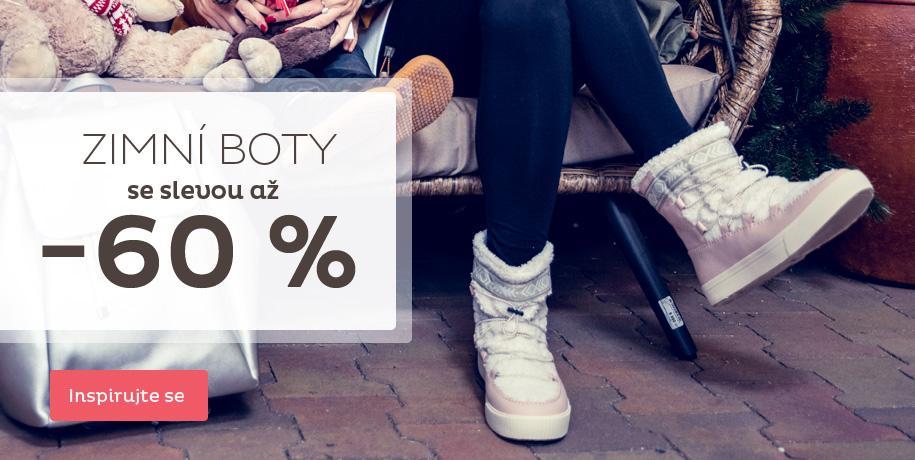 Výprodej zimních bot slevy až 60 %