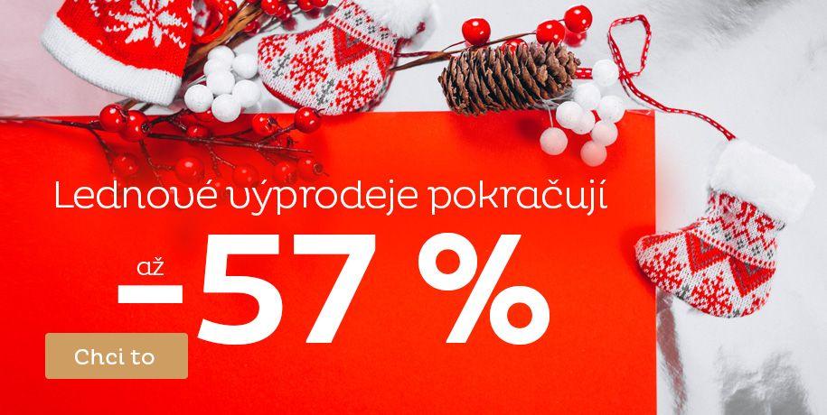 Lednové výprodeje až -57 %
