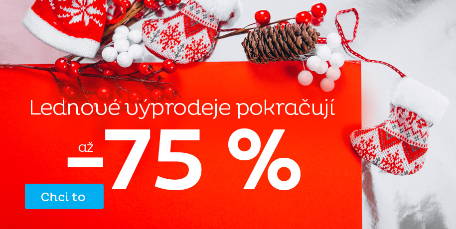 Lednové výprodeje až 75 %