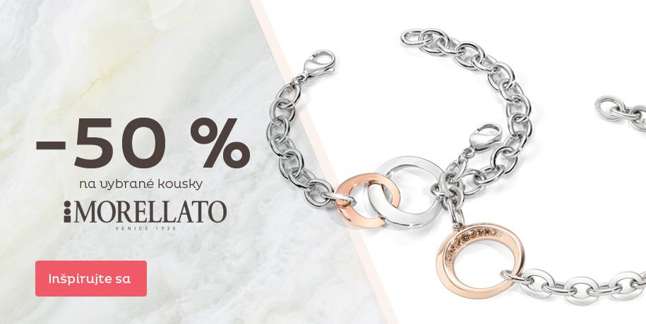 Zľava 50 % na šperky Morellato