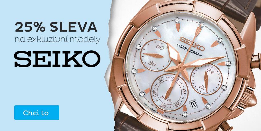 Exkluzivní modely Seiko - sleva 25 %