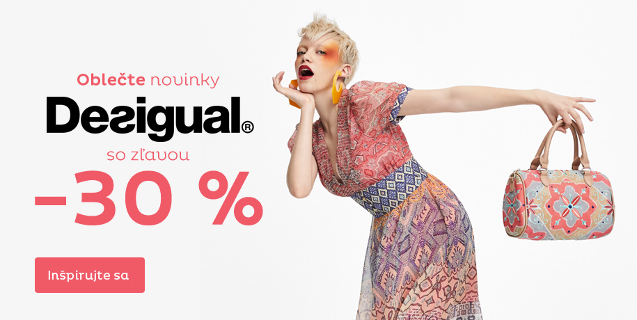 Oblečte Desigual so zľavou 30 %