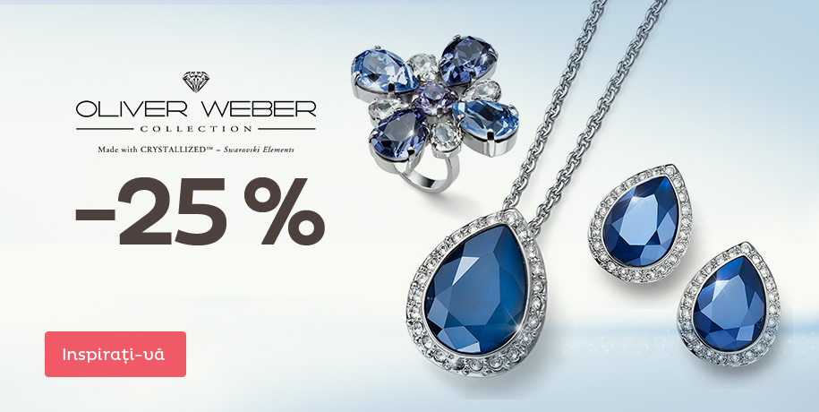 -25% la bijuteriile Oliver Weber