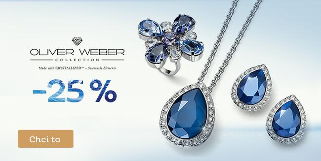 Sleva 25 % na šperky Oliver Weber