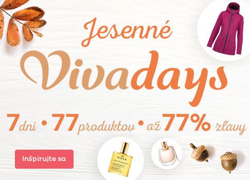 Jesenné Vivadays - zľavy až 77 %