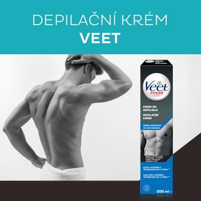 Depilační krém pro muže pro citlivou pokožku Men Silk & Fresh 200 ml