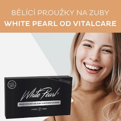 Bělicí proužky na zuby s aktivním uhlíkem White Pearl